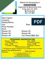Midland 4-H Gunsmoke Registration Form 2015