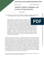 The Journal of Hindu Studies Volume 5 Issue 3 2012 [Doi 10.1093%2Fjhs%2Fhis032] Dalal, N. -- Clouding Self-Identity- Sankara, Samskaras, And the Possession of King Amaruka