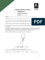 Examen TIPO Matematicas