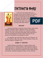 HISTORY OF SAINT VALENTINE'S DAY