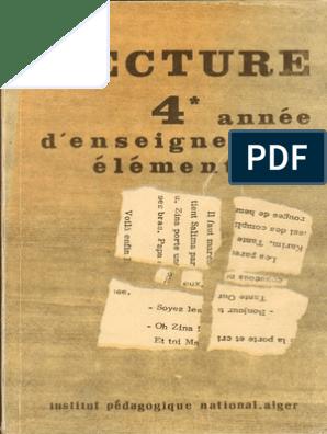 Livre De La Lecture 4eme Annee Algerie 1980 1982