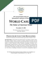 2011 CIA Worlds of Flavor WORLD CASUALPresenterGuestChefBiographies92911