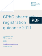 GPhC Pharmacist Registration Guidance
