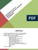 4 Criterios Para La Presentaciòn Del Proceso Enfermero