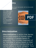 discrimination introduction to narrative and argument
