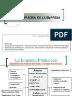 La administracion de la empresa 2° 2013