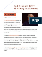 Chomsky and Kissinger Don't Increase US Military Involvement in Ukraine