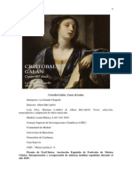Cristóbal Galán. Canto Del Alma