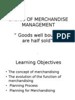 Basics of Merchandising