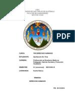 Ensayo Chilo Vacacional Diciembre 2014. Derechos Humanos (Autoguardado)