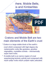 Lithosphere, Mobile Belts, Cratons and Kimberlites