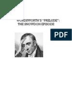 "Wordsworth's ""Preludethe Snowdon Episo"