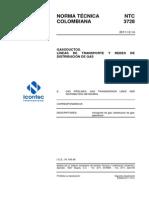 Ntc 3728 Gasoductos, Redes Transporte y Distribucion de Gas