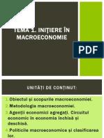 Tema 1. Inițiere În Macroeconomie.