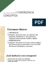 Urgencia y Emergencia