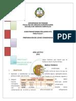Informe  Leche Condensada