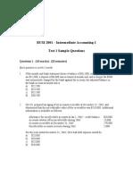 BUSI 2001 intermediate accounting I, test 1 sample problems