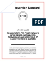 LPCB Requirement for Firm Engaged in Design, Install of Gas System