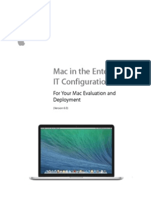 Mac in the Enterprise IT Configuration Guide | Installation