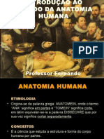 1º AULA - Introdução a Anatomia