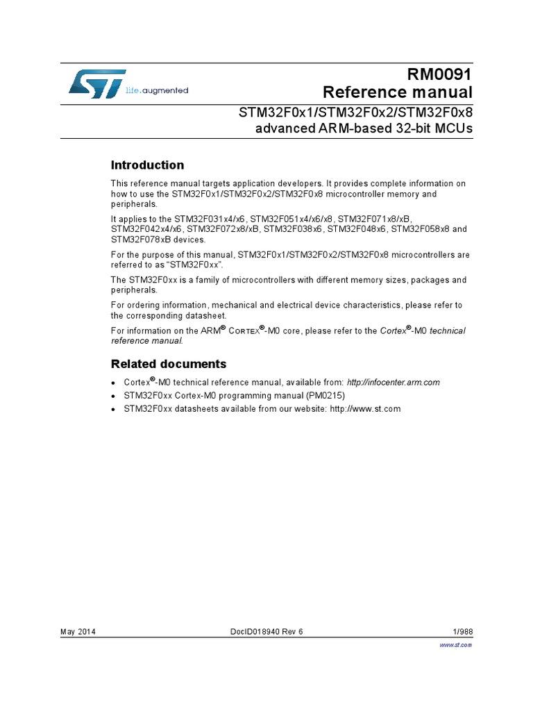 STM32F0 Reference Manual   Digital To Analog Converter