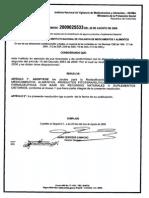 RECLASIFICACION RESOLUCION 2009025533
