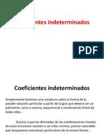 Edo Coeficientes Indeterminados y Variacion de Parametros No Homogeneas II