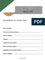 Agenda  2-10-2015