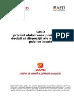 GHID  privind elaborarea proiectelor de decizii şi dispoziţii ale autorităţilor publice locale