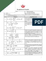 Formulas de Matemática financiera