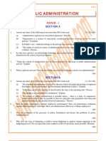 Administration Previous Paper 2005