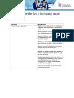 ejemplos de criterios de evaluación