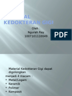 Material Kedokteran Gigi