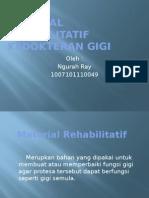 Material Rehabilitatif