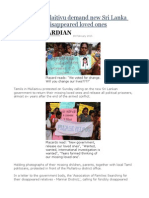 Tamils in Mullaitivu Demand New Sri Lanka Govt Returns Disappeared Loved Ones