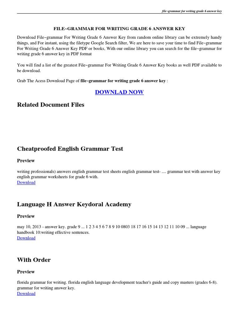 Filegrammar for writing grade 6 answer keypdf portable document filegrammar for writing grade 6 answer keypdf portable document format technology fandeluxe Gallery