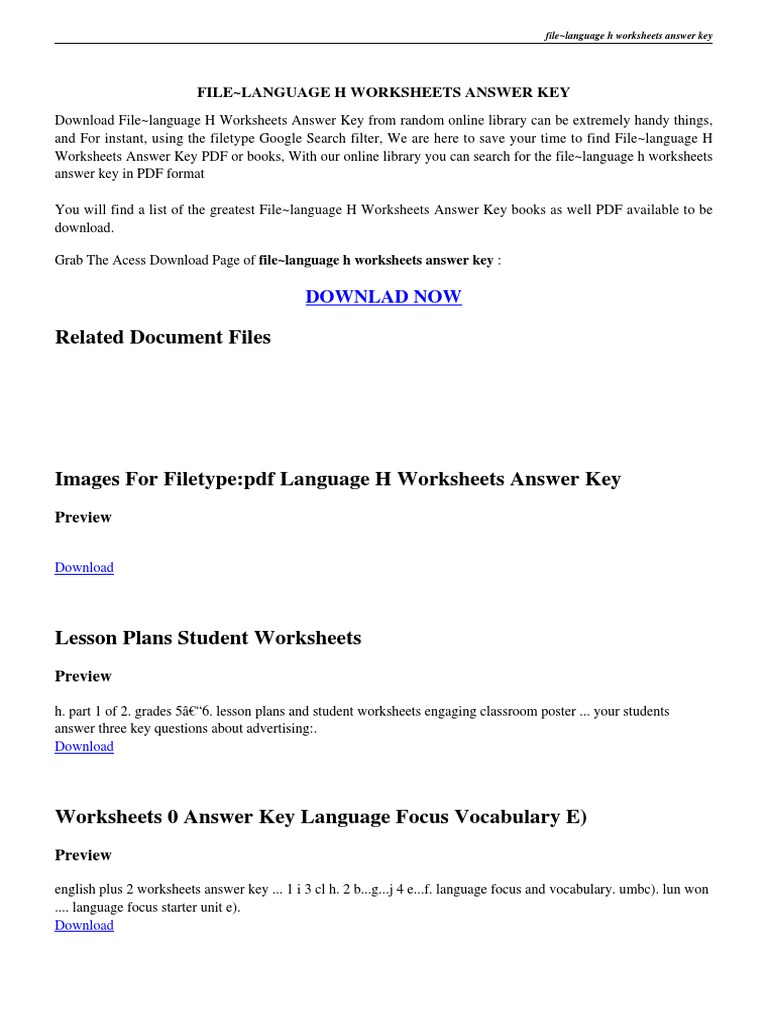 Language Handbook Worksheets Answer Key PDF – Language Handbook Worksheets Answer Key Online