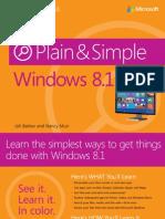 Windows 8.1 Plain & Simple.