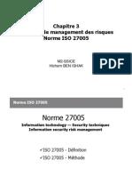 Méthode de management des risques Norme ISO 27005