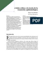 Revisión Crítica a La Teoría de La Transición Epidemiológica-Articulo