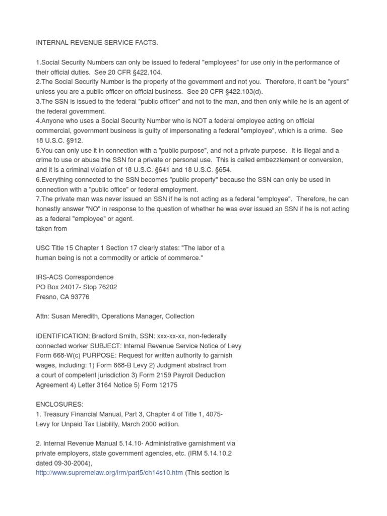 IRS info   Internal Revenue Service   Fourteenth Amendment To The ...