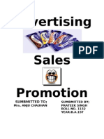Advertising Sales Promotion