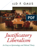 Justificatory Liberalism - An Essay on Epistemology and Political Theory - Gerald F. Gaus