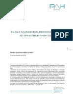 Faltas y Sanciones en el Proyecto de Reforma al Código Disciplinario Único por Pedro Alfonso Hernández