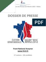 Dossier de Presse Departementales 2015