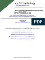 A Life of Variable Speeds on Constructing a Deleuzian Psychotherapy Rune L. Mølbak DUQUESNE UNIVERSITY