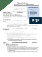 Applegate Resume