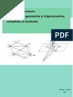 Probleme de geometrie și trigonometrie, compilate și rezolvate, Ediția a II-a, revăzută și adăugită