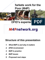 M4P - DFID's Experience