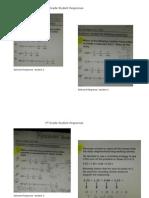 grade 5 responses samples